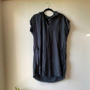 Thread and supply raw hem dress